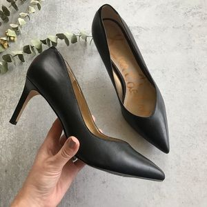 SAM EDELMAN Orella Black Leather Pumps 9